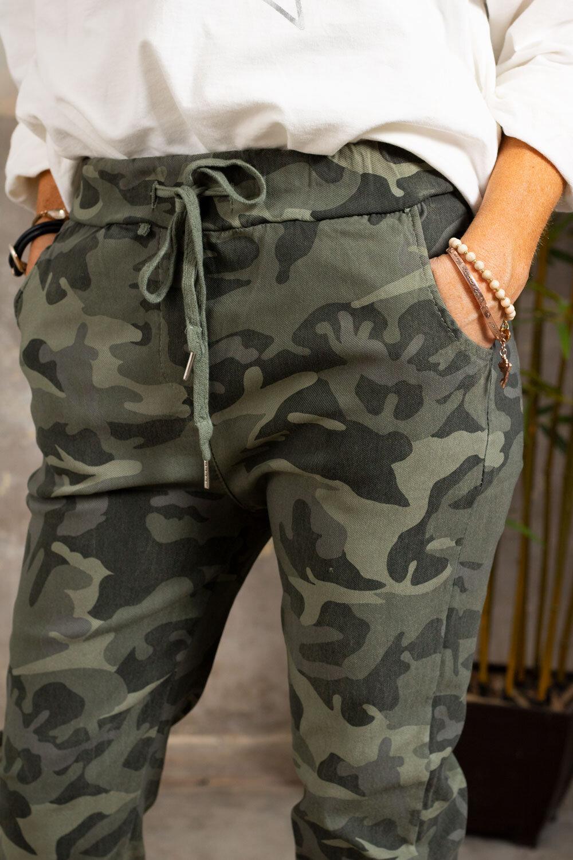 Stretchiga-bukse 3385 - Kamuflasje - Khaki