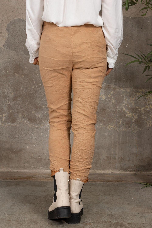 Elastiske bukser 7164 - Bling star - Camel