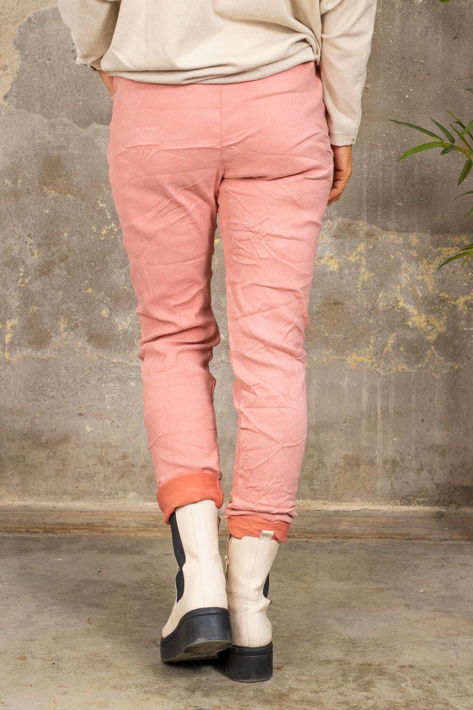 Elastiske bukser 7164 - Bling star - Rosa