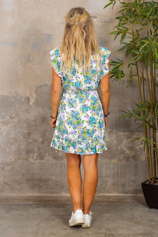 Thea kjole - Flowerpaint - Cream