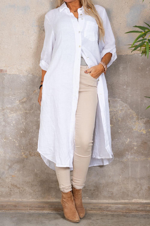 Tilda Lang linskjorte - Hvit