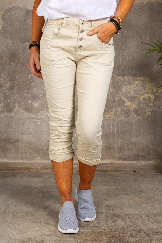 Trekvart bukser 1233 - Beige