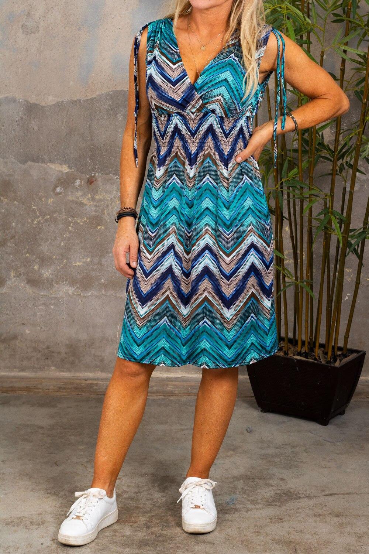 Vanessa - Kort, myk kjole - ZickZack - Aqua