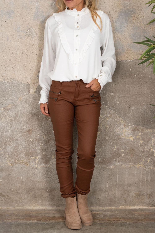 Voksede bukser CL1503 - Glidelåser - Brick