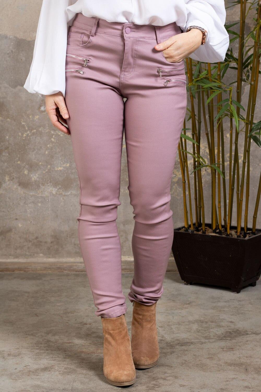 Voksede bukser CL1503 - Glidelåser - Gammelrosa