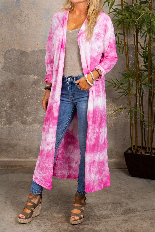 Vendela Long Cardigan - Batik - Cerise