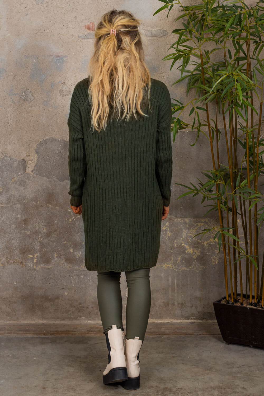 Veronica - Strikket genser - Militærgrønn