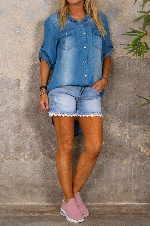 Wendy Jeans-skjorte - Denim
