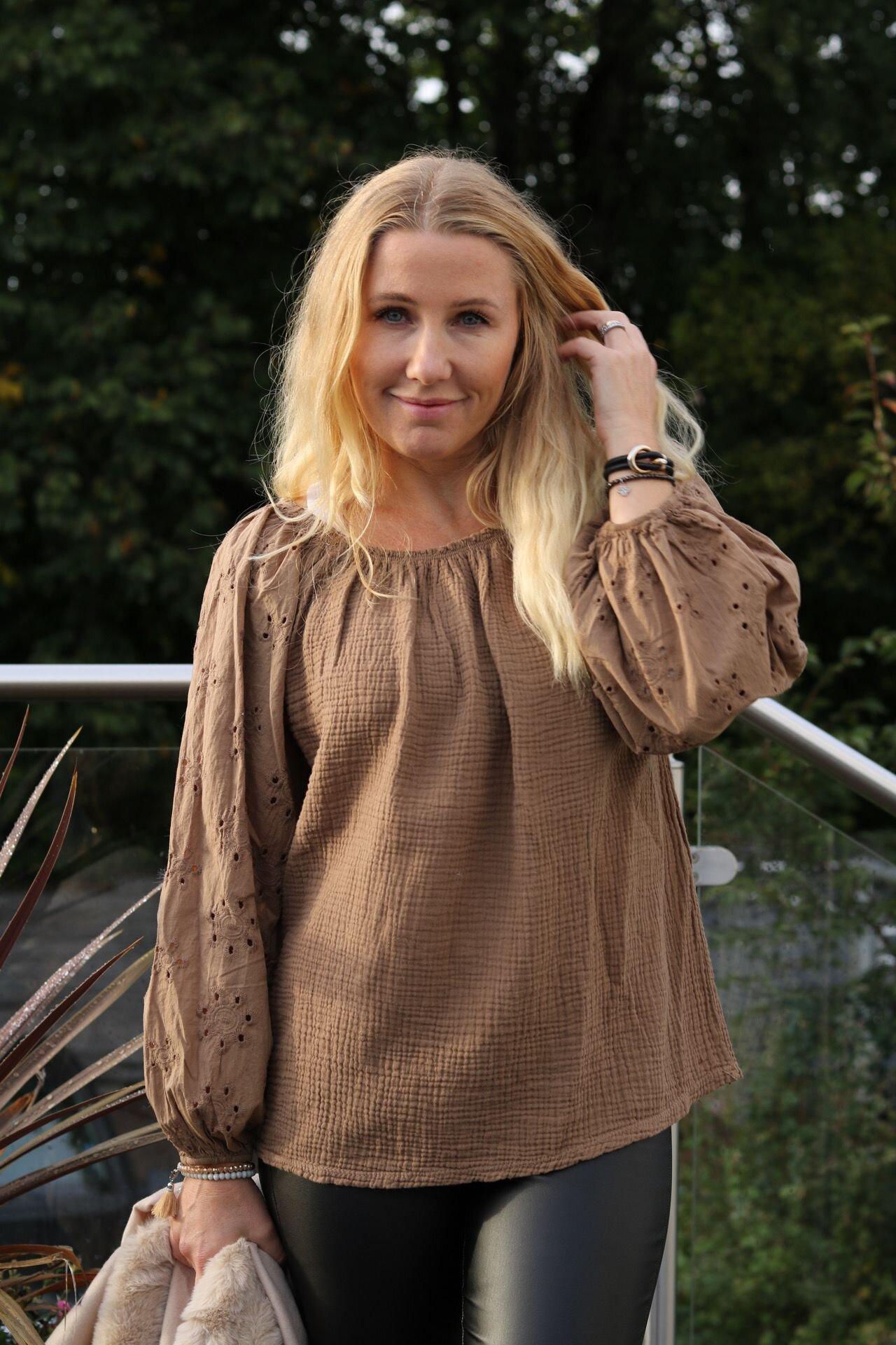 Lisbeth Tunika - Blonderermer - Mocca