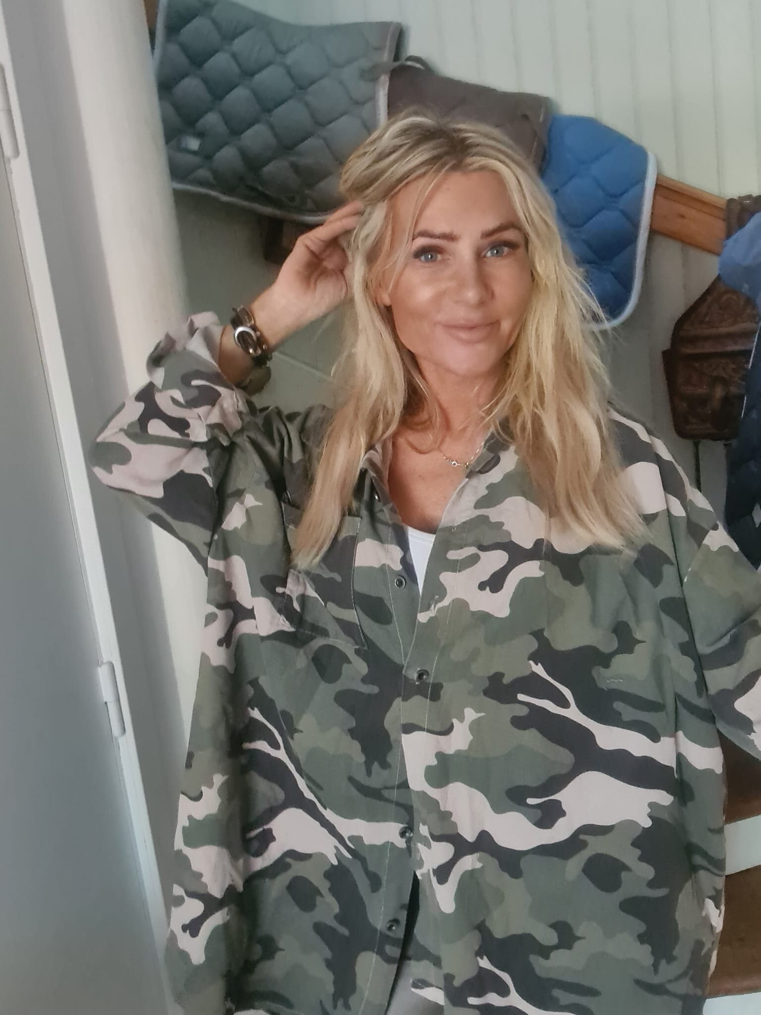 Leslie Manchesterskjorte - Kamuflasje - Khaki