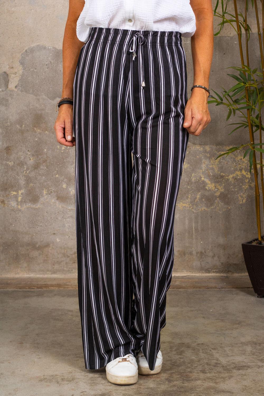 Stripete bukser - svart / hvit