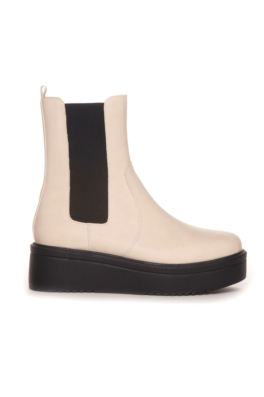 Plattformstøvler - Beige