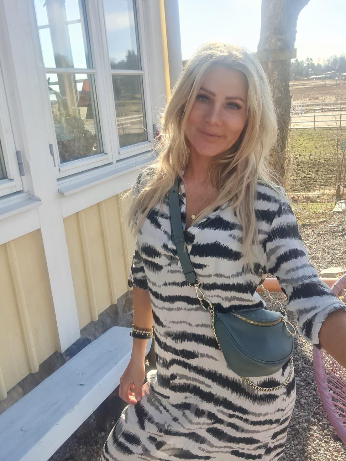 Sandy Lang skjorte / kjole - sebra - Beige