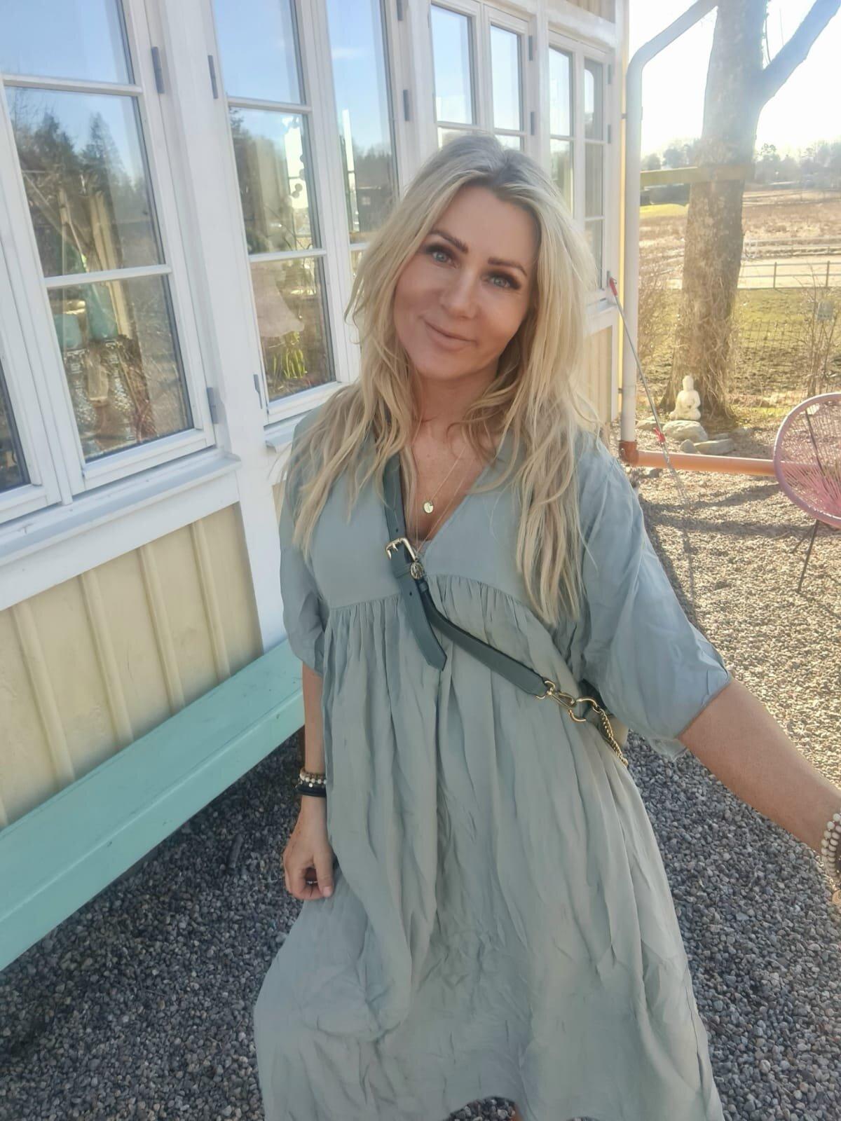 Stina myk kjole - Khaki